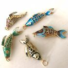 Gold Plated Reticulating Moveable Koi Fish Pendant