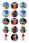 MOANA BOTTLE CAP IMAGES 15 1 CUPCAKE TOPPERS BOWS  FREE SHIPPING