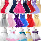 Flower Girl Dress Kids Pageant Communion Wedding Formal Party Tutu Gown Princess