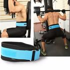 Gym Weight Lifting Belt Waist Back Support Strap Power Dip Training Fitness New