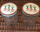 Vintage Anchor Hocking Fire King Tulip Containers Lot Of 2 Very Good Condition