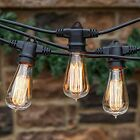 Outdoor String Lights Vintage Edison Light Weatherproof 48 Feet Globes Patio NEW