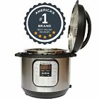 Pressure Slow Rice Cooker Steamer 8 Qt Pot Stainless Steel Programmable Cooking