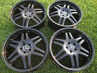 20 MERCEDES S63 S65 CL63 CL65 S550 CL550 FACTORY BLACK RIMS WHEELS AMG BRABUS
