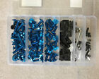 Blue Motorcycle Sportbike Complete Fairing Bolts Kit Fastener Clips Screws Nut