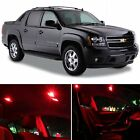 16x Red Bulb Car LED Lights Bulb Interior Package For 2007-2014 Chevy Avalanche