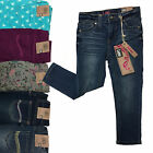 New LEE Little Girls Toddlers Skinny Print Jeans Stretch Dark Embellished 3T 7
