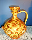 Beautiful Earth Tones 1885 Antique Zsolnay Pecs Porcelain EWER/PITCHER, Hungary