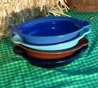 INDIVIDUAL CASSEROLE OVAL BOWL turquoise FIESTA WARE