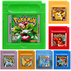 Pokemon Gameboy Advance Multi Color GBA  GBC Game Cards US Version