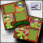 NINJA TURTLES 2 premade scrapbook pages paper printed boy layout BY CHERRY 0025