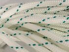 Double Braid Polyester line 7 16x150 ft yacht braid green tracer halyard sheet