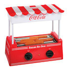 Red Coke Plastic Old Fashioned Adjustable Heat Non-Stick Hot Dog Roller Machine
