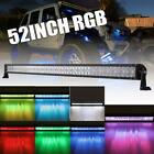 52inch 1000W RGB LED Light Bar Multi Color Offroad ATV Truck SUV Ford Jeep