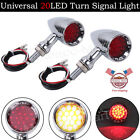 20LED Bullet Red Brake Stop Turn Signal Tail Light For Motorcycle Harley Chopper