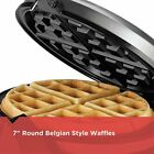 Flip Waffle Maker Nonstick Grids Stainless Steel with Black Removable Drip Tray
