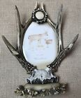 Rustic Deer Antler Picture Frame 4 X 6 Photo Frame Deer Hunting Decor