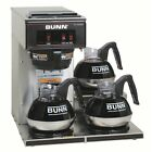 Black Stainless Steel 12-Cup Pourover Brewer Coffee Maker with Three Warmers