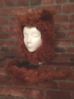 Brown Dog Wolf Beast head and tail Girls  Boys  Womens Mens costumes