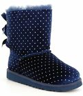 Ugg Infants Jesse Bow Starlight Bootie 2 3 M US Navy