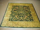 6.6x6.6 VERY  FINE QUALITY HAND MADE WOOL PERSIAN ISFAHAN VEG DYES RUG