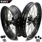 2.5*19/4.25*17 Fit KTM950 KTM990 2003-2017 Supermoto CUSH Wheels Rims Set Black