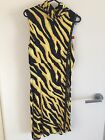 Versace Jeans Couture Vintage Yellow  Black Tiger Dress BNWTs