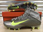 Nike Vapor Untouchable 2 Football Cleats Refractor Grey Volt SZ  824470 010