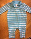 Baby GIRL RALPH LAUREN Teal One Piece Striped Cotton Outfit Size 6 Months EUC