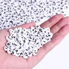 100x White Letter Alphabet Acrylic Loose Beads For Bracelet Jewelry DIY Finding