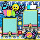 EMOJI FUN social media 2 premade scrapbook pages 3D paper piecing BY CHERRY