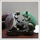 ART DECO FROG  TORTOISE PLAYING CHESS TIFFANY TABLE LAMP GLASS SHADE