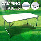 4FT Folding Potable Camping Table Picnic Dining Adjustable Aluminum Outdoor
