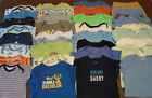 USED 34 PC LOT OF BABY BOY CLOTHES BODYSUITS 12 24 MONTHS EUC VGUC