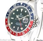 Rolex Mens Gmt Master 2 Watch In Steel, 16710 Model With Blue & Red Pepsi Bezel