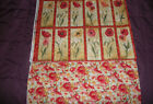 Susan Winget~~ Poppies Floral Panel and Backing~~ 12 Flowers  16 X 21  B2