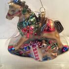 Fitz & Floyd Old Fashioned Christmas Rocking Horse Ornament 2002