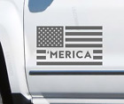 2 Pack MERICA Left n Right USA Flag sticker decal Military Fits Jeep LR6