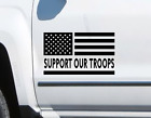2 Pack Support our Troops USA Flag vinyl sticker decal Fits Jeep LR6