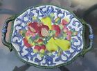 FITZ AND FLOYD FLORENTINE FRUIT LARGE PLATTER 16 1/2 INCHES