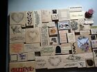 HUGE Lot of 66 WOODEN RUBBER STAMPS Some New Seasonal Verse
