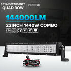 5D 400W 22inch OSRAM Curved LED Light Bar Combo Offroad 4X4WD Jeep Ford 23 24