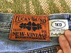 Lucky Brand New Vintage Husker Mens Size 34 Extra Long Length Jeans 1KD EUC