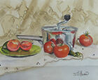 Antique Juicer and tomato still life  8 x 10 print of original acrylic painting