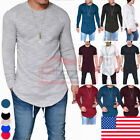 Fashion Mens Slim Fit O Neck Long Sleeve Muscle Tee T shirt Casual Tops Blouse