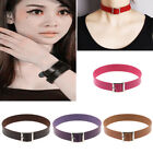 Fashion Strap Punk Goth Necklace Jewelry Leather Belt Rivet Choker Cool Collar