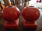 Fiestaware Ball Candle Holder Retired Persimmon Lot of 2
