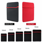 UK 7 17 Inch Soft Neoprene Sleeve Pouch Bag Case For Tablet Laptop PC Notebook