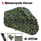 L Waterproof Outdoor Motorcycle Cover Camo Fit Suzuki GSX 1100 600 600 750 F