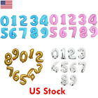 40 Foil Number Happy Birthday Letter Decoration Ballons Wedding Anniversary US
